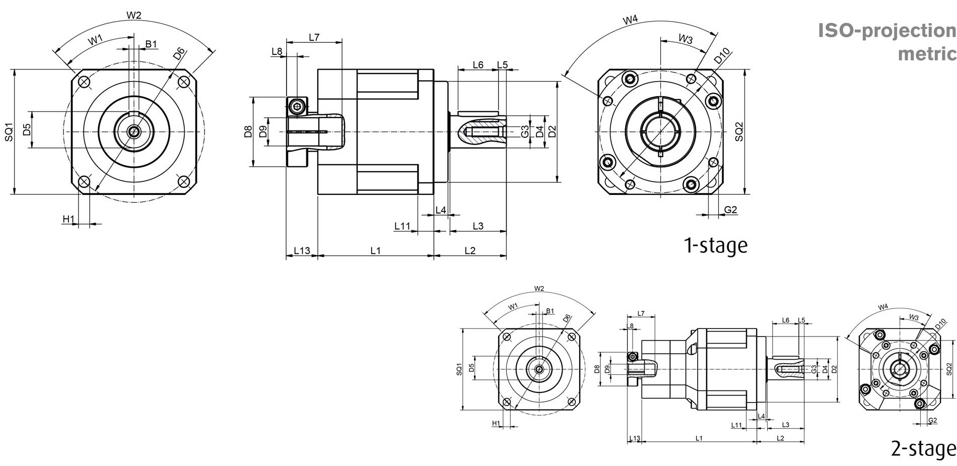 Planetary gear GSB dimensions