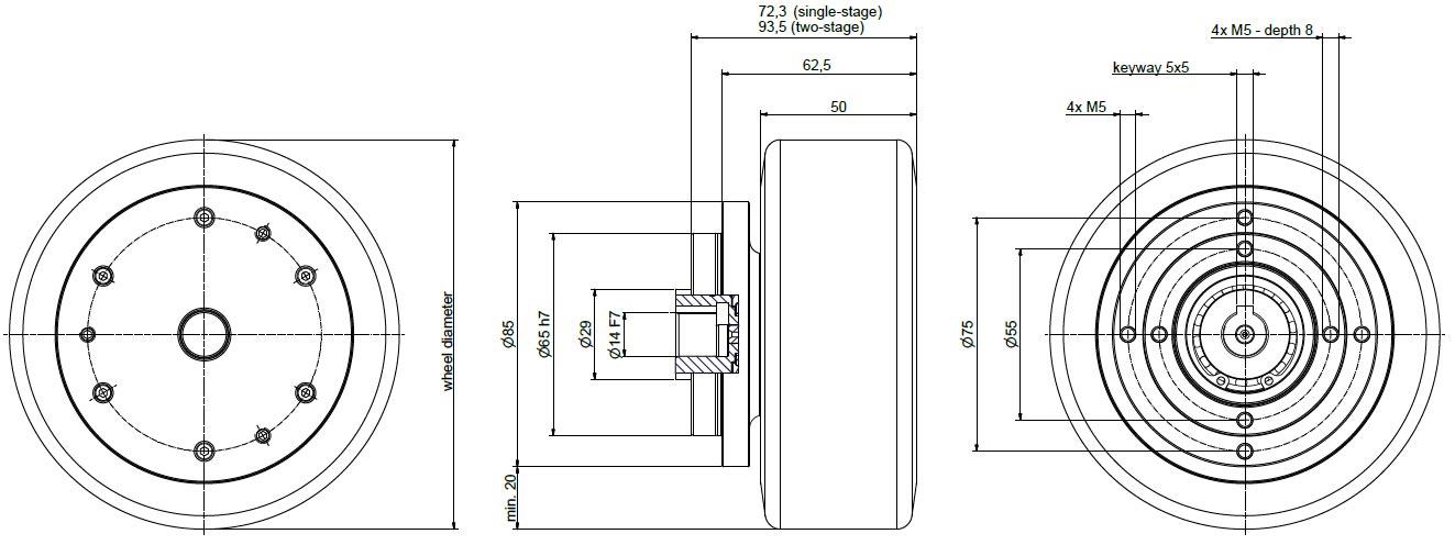 NG250 dimensions